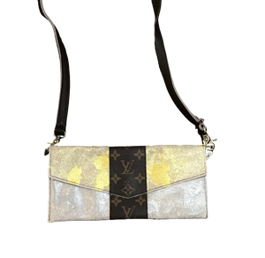 Repurposed LV Metallic Cowhide Crossbody
