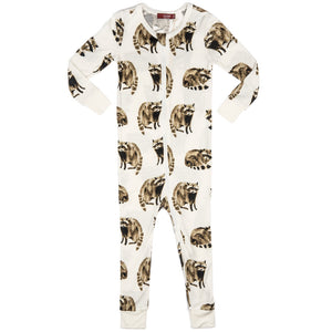 Raccoon Zipper Pajamas