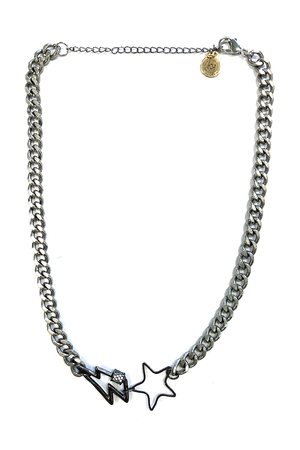 Ryland Gunmetal Star Bolt Necklace