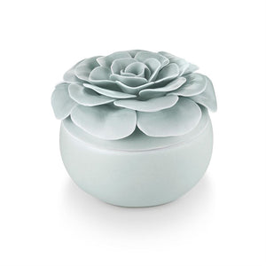 Fresh Sea Salt Ceramic Flower Candle