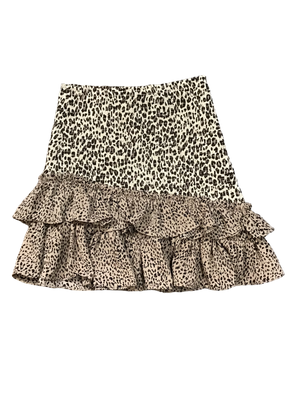 Leopard Smocked Mini Skirt