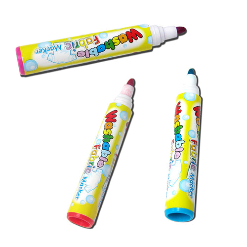 8 WASHABLE FABRIC MARKERS