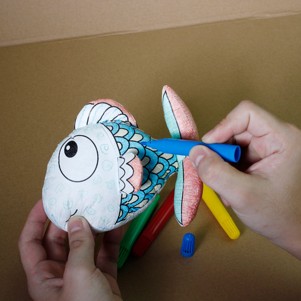 COLORING & WASHABLE (3 SEA ANIMALS)