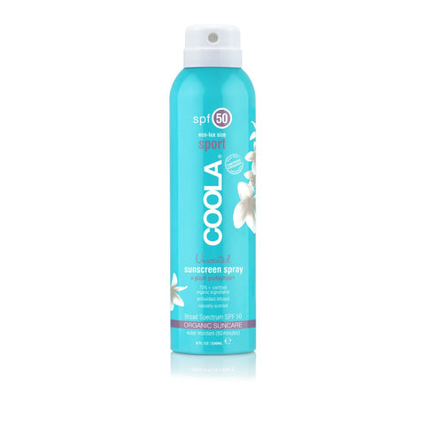 Coola Unscented Eco-Lux Sport SPF 50 Organic Sunscreen Spray