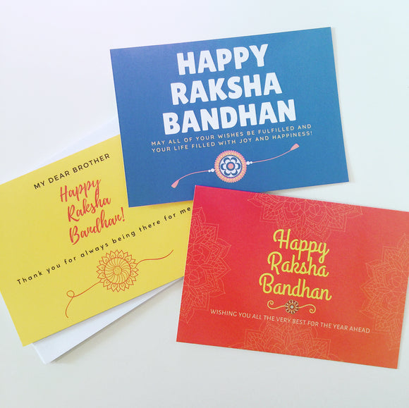 Raksha Bandhan Card - 3 Designs