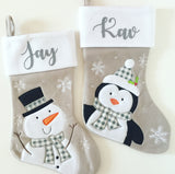 Personalised Silver-Grey Stocking