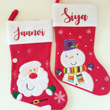 Personalised Red and White Stocking