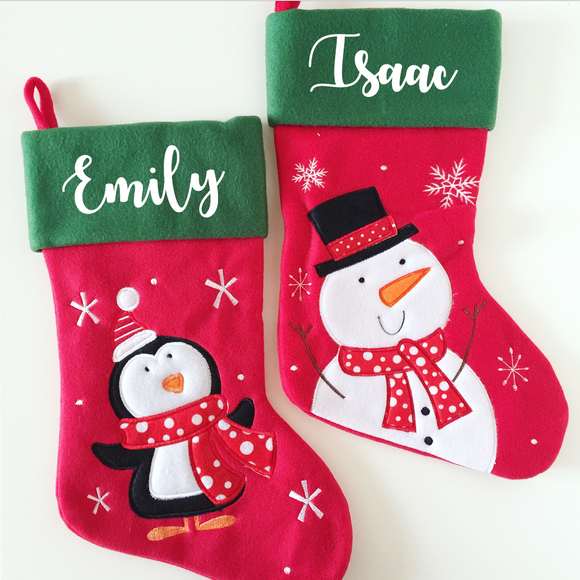 Personalised Red and Green Stocking