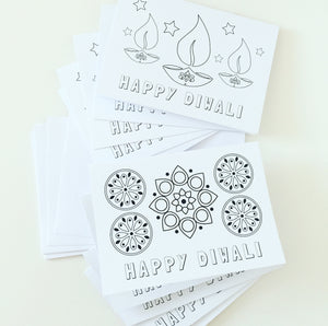 Colour your own Diwali Cards - Pack of 10