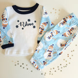 Personalised Snowman Christmas Pj's