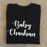 Set of 2, 3 or 4 personalised family t-shirts - Mummy Chauhan - Personalise surname