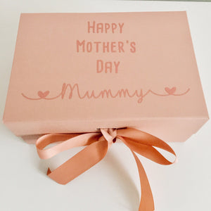A5 Deep Personalised Rose Gold Mother's Day Box