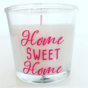 Home Sweet Home Candle - Housewarming Gift - Any Text or Message - New Home