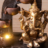Golden Ganesh Indoor Water Fountain with LED Light