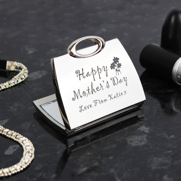 Personalised Happy Mothers Day Compact Mirror