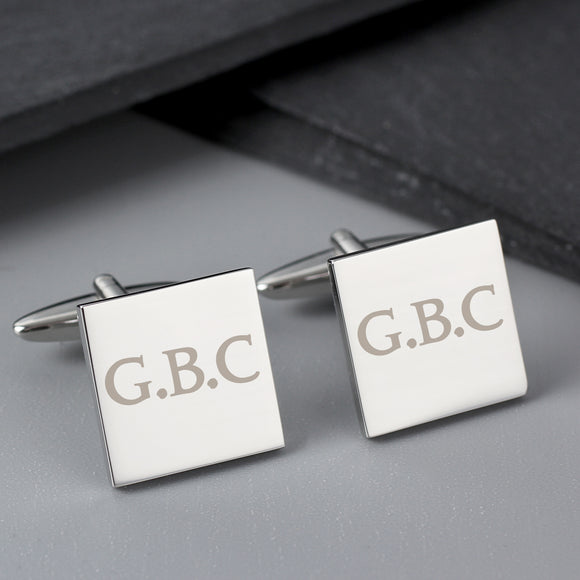 Personalised Initials Square Cufflinks
