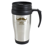 Personalised Moustache Travel Mug