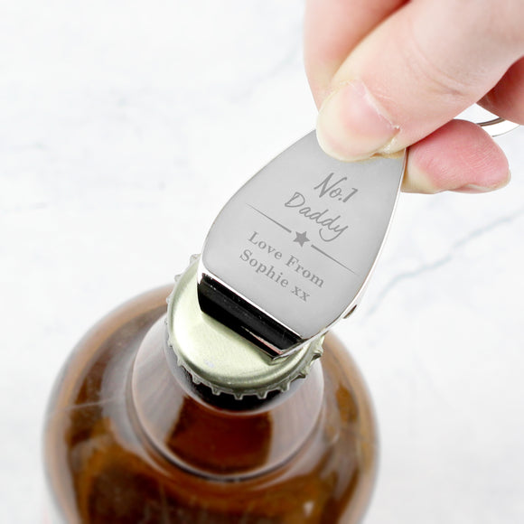 Personalised No.1 Bottle Opener Keyring