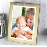 Personalised 7x5 Classic Gold and Silver Brushed Photo Frame