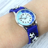Personalised Kids Blue Time Teacher Football Watch with Presentation Box
