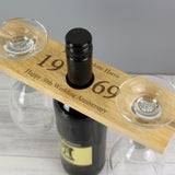 Personalised 'Year' Wine Glass & Bottle Butler