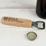 Personalised No.1 Wooden Bottle Opener