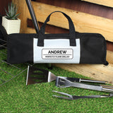 Personalised Classic Stainless Steel BBQ Kit