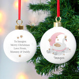 Personalised Swan Lake Bauble