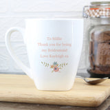 Personalised Floral Bouquet Latte Mug