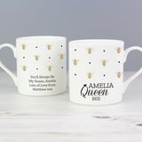 Personalised Queen Bee Balmoral Mug