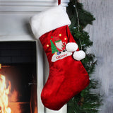 Personalised Tartan Santa Luxury Red Stocking