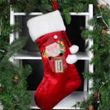 Personalised Santa Claus Luxury Red Stocking