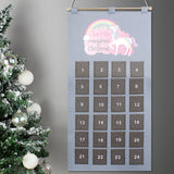 Personalised Christmas Unicorn Advent Calendar In Silver Grey