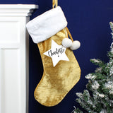 Personalised Star Luxury Gold Stocking