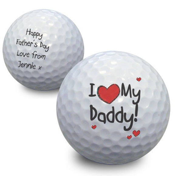 Personalised I Heart My Golf Ball