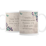 Personalised Forget me not Mug