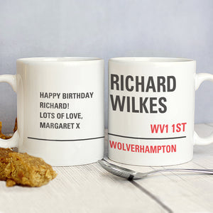 Personalised London Street Sign Mug