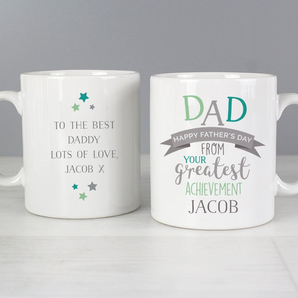 Personalised 'Dad's Greatest Achievement' Mug