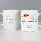 Personalised New Dad - New Grandad Mug