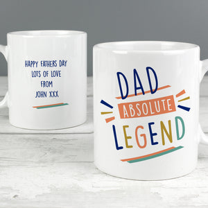 Personalised Absolute Legend Mug