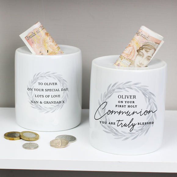Personalised First Holy Communion Ceramic Money Box