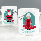 Personalised Mr & Mrs Claus Mug Set