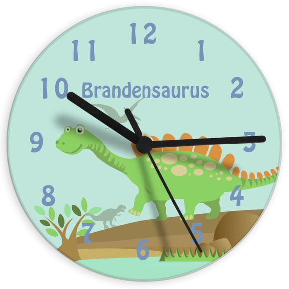 Personalised Dinosaur Clock - Birthday gift - Gift for Children