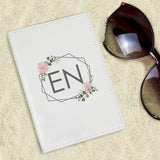 Personalised Floral Cream Passport Holder