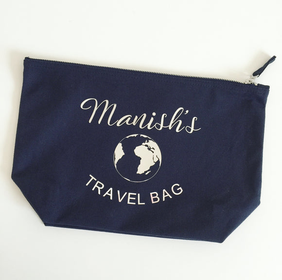 Personalised Wash Bag - Travel Bag