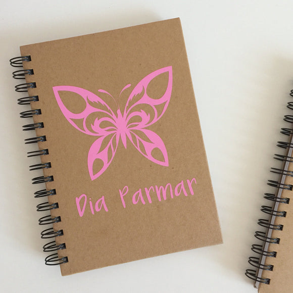 Personalised Butterfly Notebook
