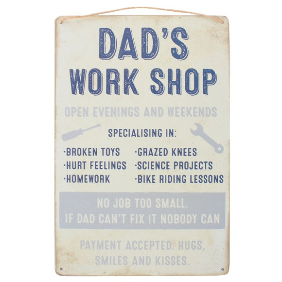 Dad's Workshop Hanging Sign