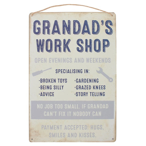 Grandad's Workshop Hanging Sign