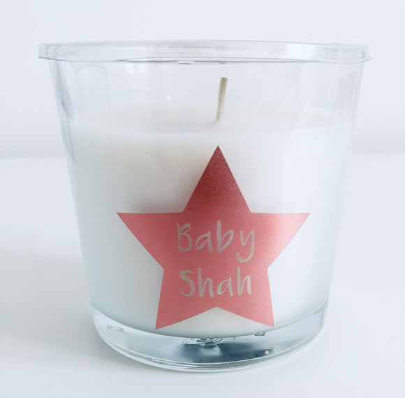 Personalised Star Candle - Baby Shower - New Baby - Return Gift
