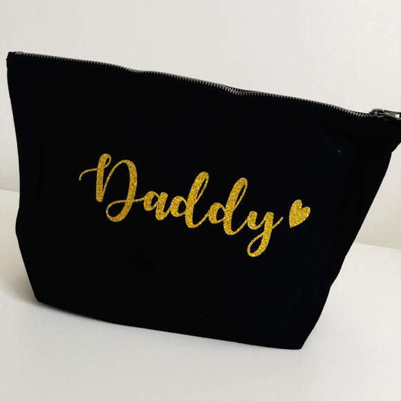 Personalised Toiletry Bag - Heart Style - Father's Day
